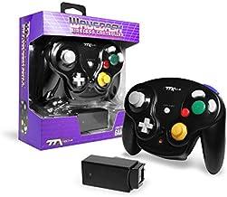 TTX Gamecube Wavedash Wireless2.4 Ghz Controller Black For Nintendo Gamecube with Wii Console (Nintendo Wii)
