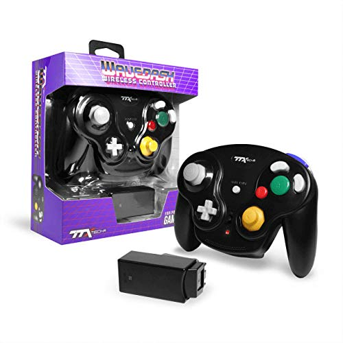 TTXTech GC Wavedash Wireless Controller Black for Nintendo GameCube with Wii Console
