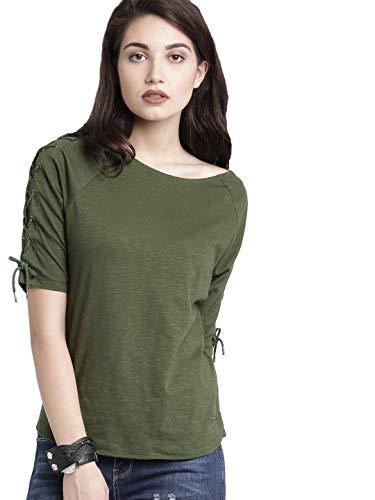 DHRUVI TRENDZ LooksGud Women's Plain Regular Fit Lycra Western Casual Top Women's Regular Fit Top