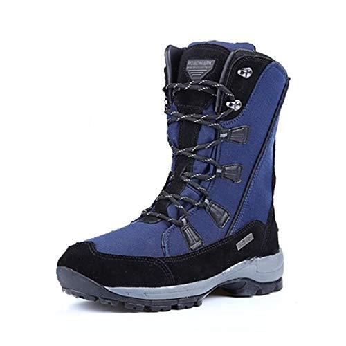XZZ Snowboard Boots, Snowboardschuhe, Unisex-Skischuhe, Anti-Schnee, warmes Plüschfutter, Geeignet für Urlaub, Winter, Weiß, Schwarz, Blau, Weinrot