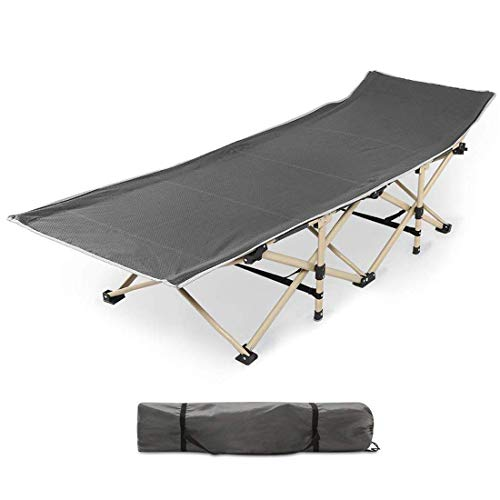 Urbancart® Portable Outdoor Folding Ergonomic Design Camping/Garden Cot Bed with Carry Bag Cover