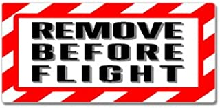 Remove Before Flight - Airplane Warning - Window Bumper Sticker