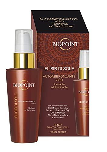 Biopoint Elisir di Sole Autoabbronzante Viso 50 ml – Siero dalla Consistenza Setosa e Delicata a Rapido Assorbimento