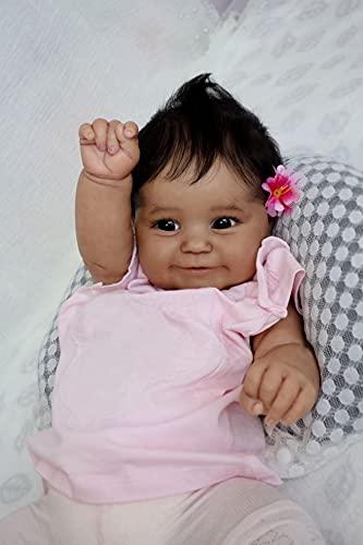 African American Reborn Baby Dolls Black Boys Girls 20inch 50cm Smile...