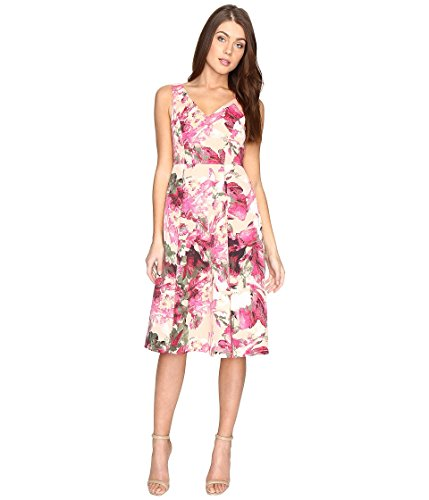 Adrianna Papell Women's Faille Tea Length Fit & Flare