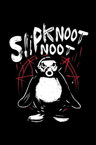 Slipknoot noot Pinguin Notizbuch: Slipknoot noot Pinguin Death Metal Notizbuch für Metalheads und Hardrock Fans - 120 linierte Seiten für Termine, ... DINA5 | Geschenk Idee für Heavy Metal Fans.