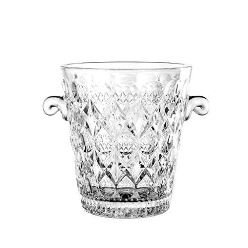 FOLA Cubo de Hielo de Vidrio Cubos de Hielo de Vino Cubo de champán doméstico con Clip de Hielo para Fiesta/hogar/Bar/ktv Club