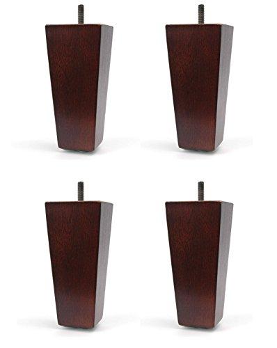 """5"""" Furniture Wood Tapered Sofa Leg Walnut Finish"""