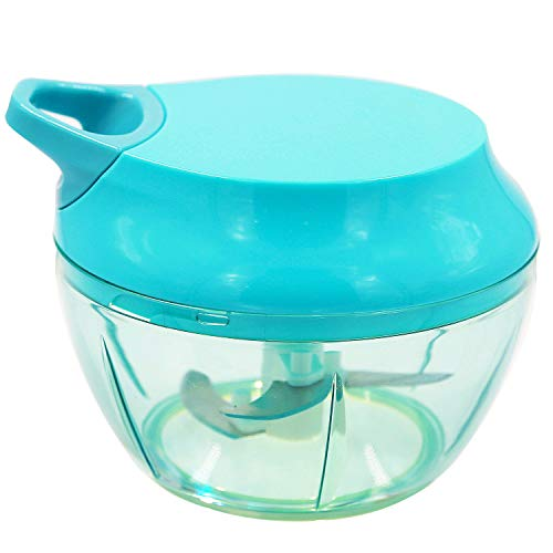 Ginkgo Manual Food Chopper, Spice Onion Chopper-Easy to Clean Portable Food Processor for Vegetables, Fruits, Nuts, Herbs, Meat, Garlics
