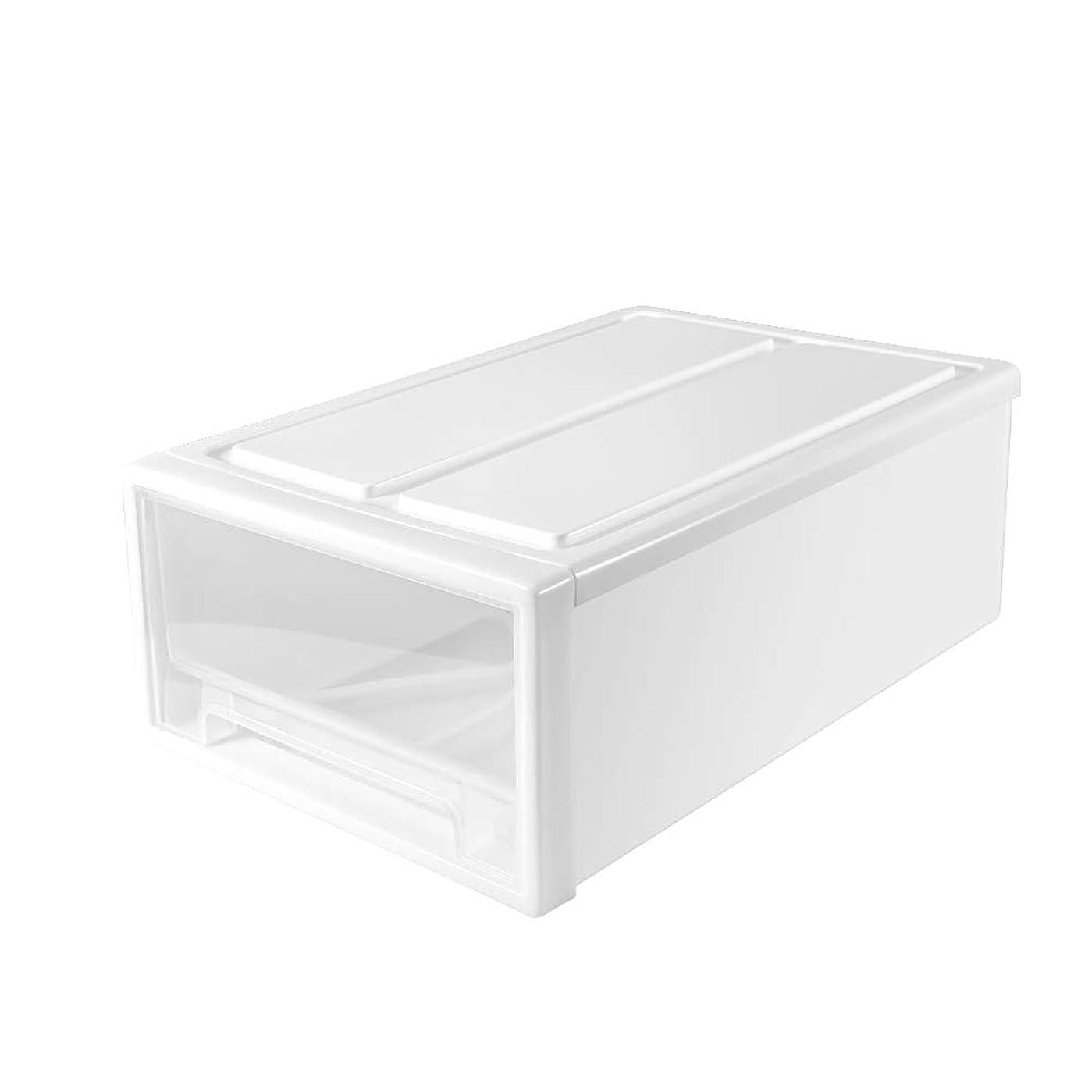 矩形ジャンプするチャールズキージングチェスト 収納ケース 収納ボックス 衣装ケース Jevogh DM23 小物入れ 幅30.5cm×奥21.8cm×高さ12cm 収納箱 半透明「ホワイト」