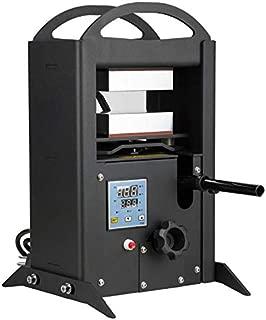 Tech-L Heat Press Kit 8 Ton Hydraulic Pressing Dual 4.8 x2.8 x1.2 Inch Anodized Heat Press PlatesAll-in-One Heat Press Machine Temperature Controller Box 1400W Heat Cage Kit (HP02)