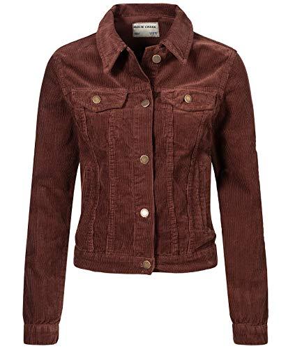 Rock Creek Damen Cordjacke Übergangsjacke Damenjacke Jeansjacke Oversize Vintage Retro Jacken Kurz Frauen Jacke Winterjacke Warm D-432 Ocker M