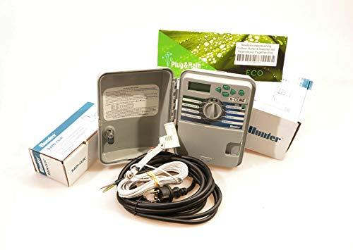 Plug&Rain Bewässerungssteuerung Outdoor Hunter 8 Stationen mit Regensensor Eco