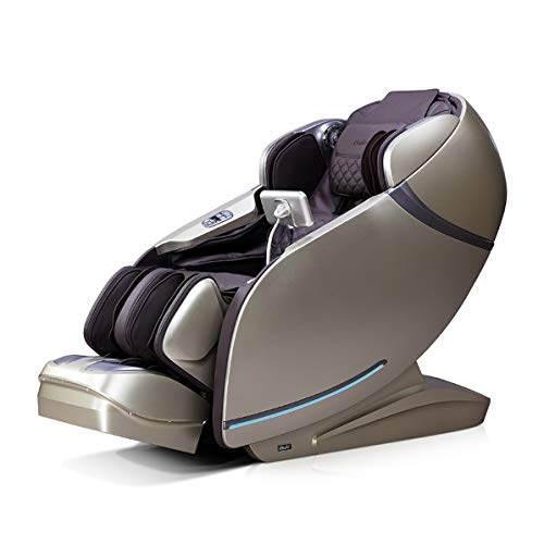 OSAKI OS-PRO FIRST CLASS Electric Full Body 3D Massage Chair, Heat on Lumbar, L Track Roller Design, Foot & Calf Kneading Massage, Bluetooth Connection for HD Speaker, Side Controller (Brown/Beige)