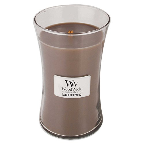 WoodWick Sand & Driftwood 22-Ounce Jar Candle