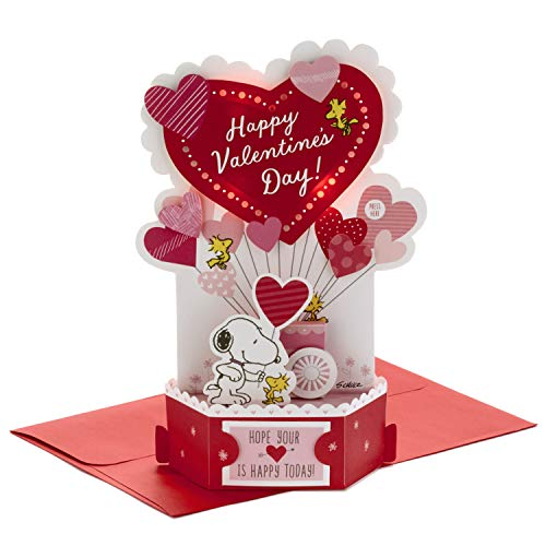 Hallmark Paper Wonder Musical Peanuts Pop Up Valentines Day Card (Plays Linus and Lucy)