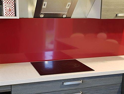 Fonde de hotte/Crédence en Aluminium Rouge Pourpre- 11 Tailles - Hauteur 50 cm x (Longueur 60 cm)