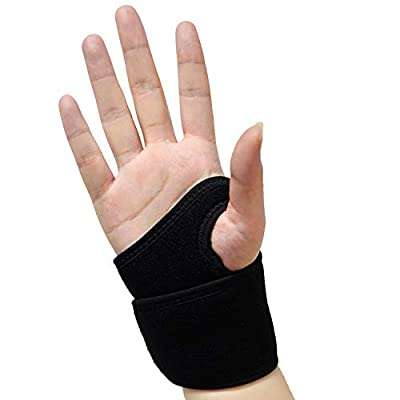 Compression Wrist Brace/Wrist Support for Carpal Tunnel, Adjustable Hand Support Brace for Arthritis and Tendinitis, Wrist Wrap for Pain Relief, Fits Both Hands – Single