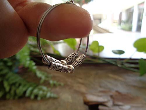 •  ஐ ARO DE ACERO INOXIDABLE BALI BOHO TRIBAL ARO ஐ  •  Pendientes estilo Bali hechos con anillos hipoalergénicos