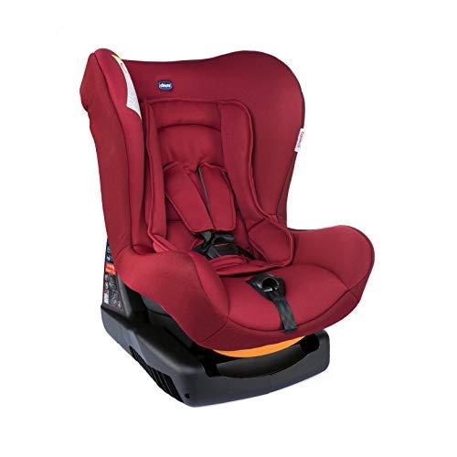 Chicco Cosmos Silla de Coche Reclinable para Bebés de 0-18 kg, Grupo 0+/1 para Niños de 0-4 años, Fácil de Instalar, Cojín Reductor para Bebés, Acolchado Suave - Roja (Red Passion)
