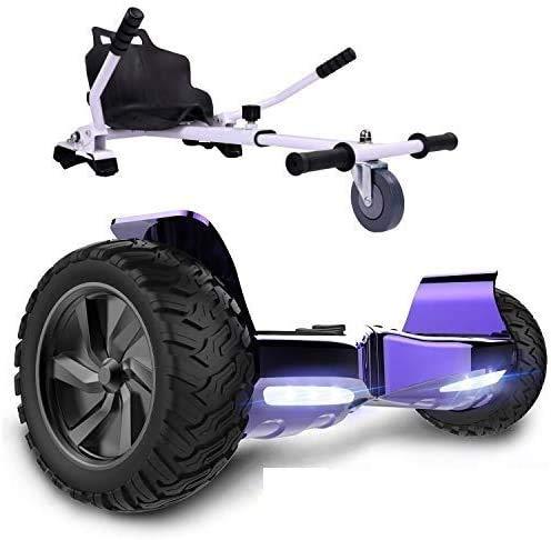 Auto-equilibrio scooter está equipado con fuselaje de aleación de aluminio, motor, scooter eléctrico tiene un potente Bluetooth integrado,Purple