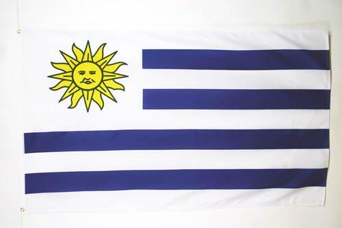 AZ FLAG Flagge Uruguay 150x90cm - URUGUAYISCHE Fahne 90 x 150 cm feiner Polyester - flaggen