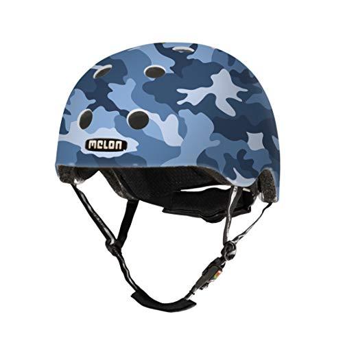 Melon Camouflage Fahrradhelm, Blau Camo, XXS-S