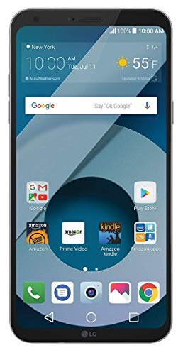 LG Q6 (US700) 32GB GSM Unlocked 4G LTE Android Smartphone w/ 13MP Camera and Face Recognition - Arctic Platinum (Renewed)