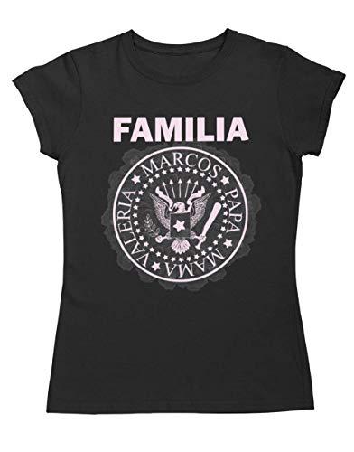 Camiseta Familia Personalizada Ramones Mujer Regalo perfecto