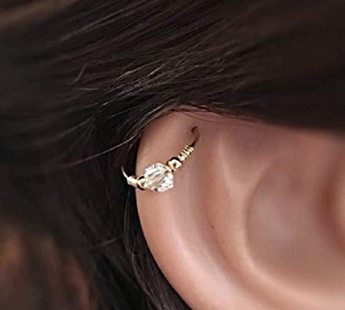 Helix Ohrring Tragus - Nasenring Septum Ring - Gold Silber 0.6mm - 0.8mm