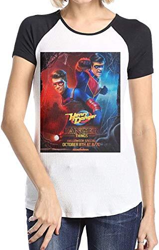 YYdg Camisetas de Manga Corta de béisbol para Mujer, Camisetas Deportivas Dang-er TV SH-OW de Henry Printed Fashion Girl