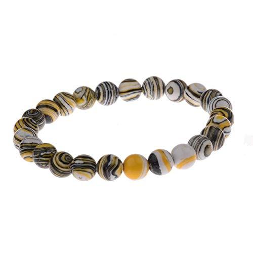 CGDX Neue Sommer Stil Naturstein Perlen Armband Tigerauge Perlen Stretch Armbänder Armreifen Frauen Männer 176-103
