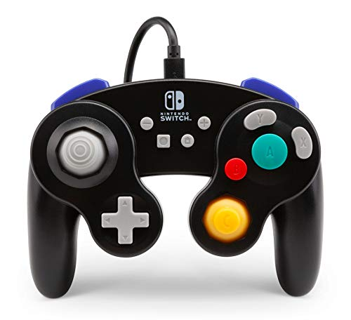 Mando Con Cable, Estilo Gamecube Negro Nintendo Switch