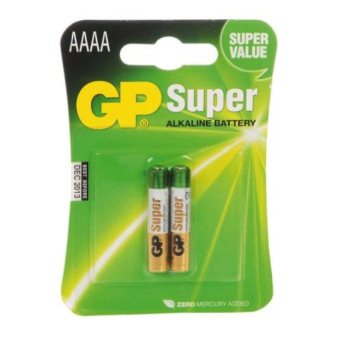 GP Batteries Gp25 a-c2 Lot de 2 Super Piles Alcalines tas de AAAA