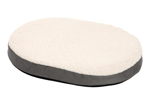 Karlie Liegekissen Ortho Bed Mini, oval L: 55 cm B: 40 cm H: 7 cm grau