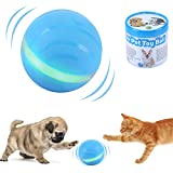 ritastar Gravity Sensor Smart Interactive Dog Toy Ball Auto Rolling,Automatic Turn Off,USB Rechargeable,RGB LED Lights Waterproof Durable Rubber,Self Rotation Chase Train Exercise Wicked Pet Ball