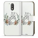 Étui Compatible avec Motorola Moto G4 Étui Folio Étui magnétique Disney Winnie l'ourson Porcinet...