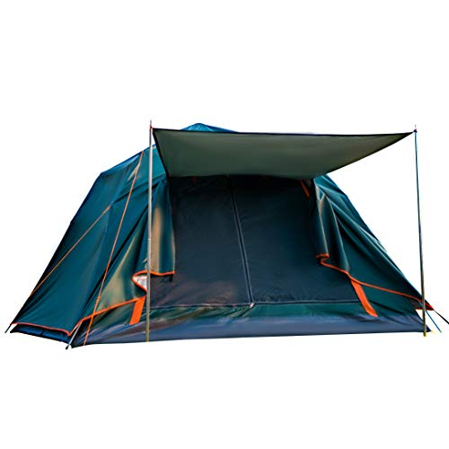 Yuoko 4-Person Waterproof Pop up Camping Tent with Rainfly Instant Tent Portable with Carring Bag
