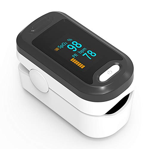 ENEM Digital Fingertip Pulse Oximeter with Heart Rate Monitor with CE FDA registration  for Doctors and Patients   Accurate Reading   Blood Oxygen SPO2 Saturation Monitor Oxymeter (Yonker White)