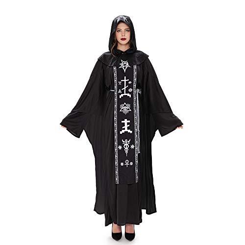 Xwenx Disfraz de mago para parejas, disfraz para mujer, disfraz de Halloween, disfraz de cosplay, disfraz de anime, disfraz de cosplay, para mujer, talla M