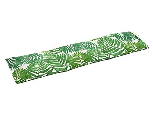 TERMOSAK Saco térmico de semillas 23x14 / 45x14 cm, con separaciones, cojín térmico calor/frío de alta duración con lavanda y funda lavable de misma tela (45x14, Hojas)