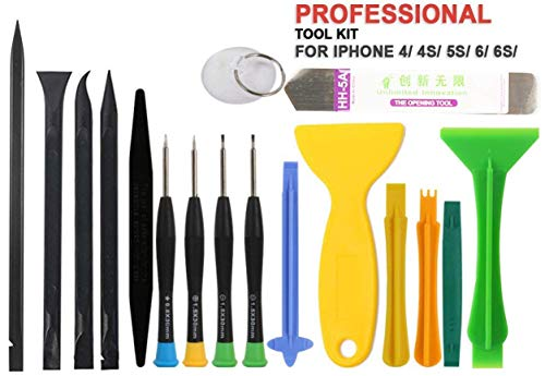 NSinc – 17 in 1 Professional Cell Phone Mobile Screwdriver Set Repair Opening Tool Kit for Various Smartphones and Tablets