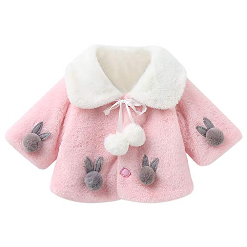 Benbzh-Muebles Babymantel, Bestickt, für Mädchen, Kinder, Herbst, Winter, Winter, warm, Baumwolle, mit Kapuze, Outwear, Karotte, Grün 2-3 Jahre