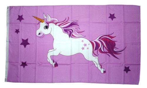 Fahne/Flagge Einhorn rosa NEU 90 x 150 cm