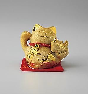 AILL NET 室内装饰/风水项目/风水基本商品 金 7.5×10×8.8cm 招财猫 (鲷鱼) 银色