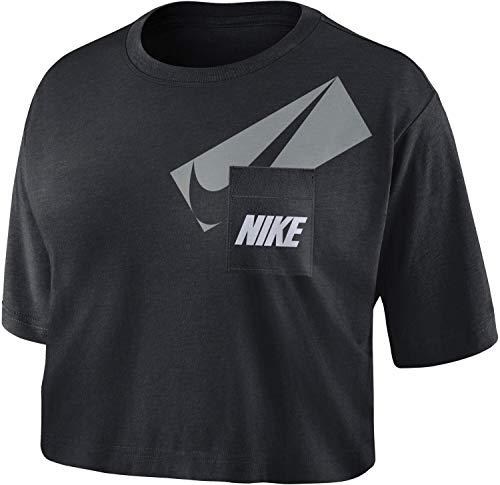 Nike DC7189-010 W NK Dry GRX Crop Top T-Shirt Donna Black/(White) 2XL