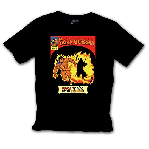 Fanisetas - Camiseta La Falla Humana - Los 4 Folclóricos - Camisetas Divertidas (M)