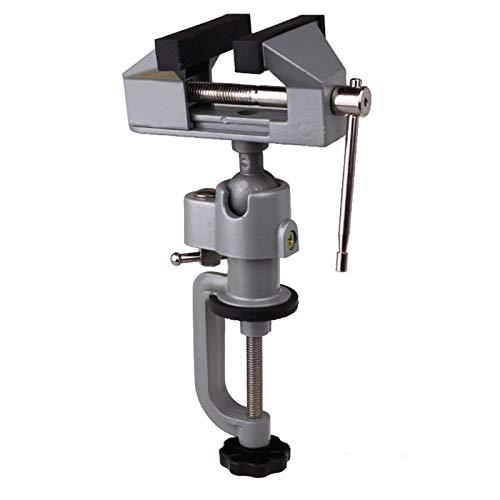 Mini tornillo ajustable, abrazadera de banco base, tornillo giratorio universal de múltiples...