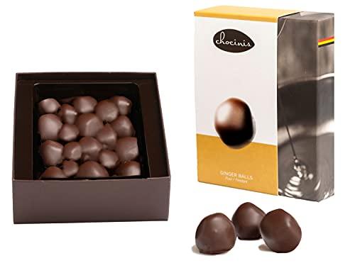 Bolas de jengibre Duva Premium envueltas en chocolate negro belga 200g