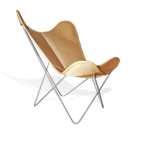WEINBAUMS Vino baums hardoy Butterfly Chair Piel honigbraun